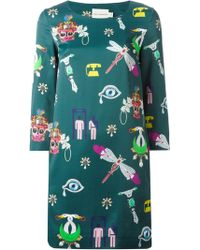 Mary Katrantzou Symbol Shift Dress - Lyst