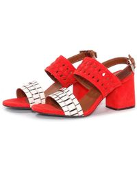 Thakoon Addition Chloe Poppy Suede Stripe Sandals - Lyst