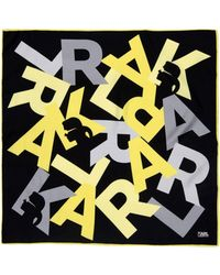 Karl Lagerfeld Square Scarf yellow - Lyst