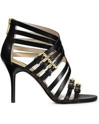 Michael Kors Ava Leather Sandal - Lyst