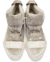 Boris Bidjan Saberi - Grey Lamb Leather Bamba 1 Sneakers - Lyst