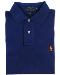 Ralph Lauren Blue Label Blue Polo Shirt With Contrast Details - Lyst