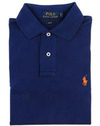 Ralph Lauren Blue Label Blue Polo Shirt With Contrast Details blue - Lyst