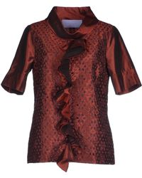 Vera Wang Lavender Blouse red - Lyst