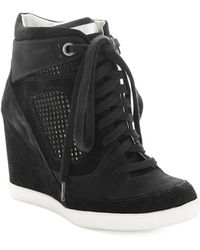 French Connection Marla Wedge Trainers - Black