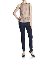 RED Valentino Swiss Dot Button-back Blouse - Lyst