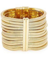 Lanvin - Art Deco Gold Tone Cuff - Lyst