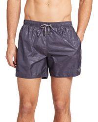 Emporio Armani Camo Print Swim Shorts gray - Lyst