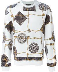 Versace Baroque Print Sweatshirt - Lyst