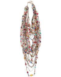 Subversive Jewelry Russian Multistrand Necklace - Multicolour