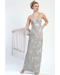 Sue Wong Soutache Embroidered Gown - Lyst