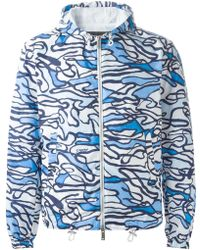DSquared2 Blue Hooded Coat - Lyst