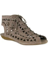 MIA - Lucy Lace Up Demi Wedge Shooties - Lyst