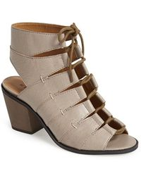 Kelsi Dagger Brooklyn 'Katreena' Leather Open Toe Bootie - Lyst