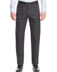 Calvin Klein Jaspe Textured Five-pocket Pants - Lyst