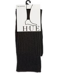 Hue Black Ribbed Legwarmers - Lyst