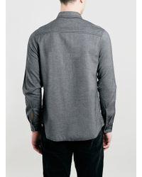 LAC - Ltd Grey Textured Shirt - Lyst