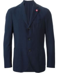 Lardini Checked Two-Piece Suit - Lyst