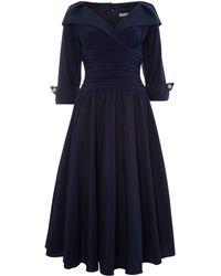 Eliza J 34 Sleeve Ruched Waist Dress - Lyst