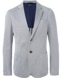 Giorgio Armani Micro Check Blazer gray - Lyst