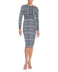 Maggy London - Patterned Sheath Dress - Lyst