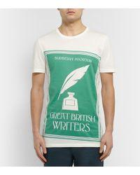 Burberry Prorsum Printed Cotton-Jersey T-Shirt - Lyst
