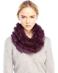 Love Token | Real Rabbit Fur Infinity Scarf | Lyst