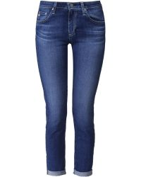 AG Adriano Goldschmied Roll Up Cropped Stilt Jeans - Lyst