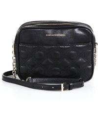 Diane von Furstenberg Voyage Gemini Quilted Leather Crossbody Bag black - Lyst