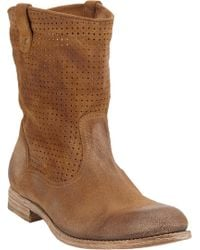 NDC Perforated Tiffany Boots brown - Lyst