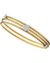 Charriol Wrapped Rhombus Cable Bracelet - Lyst