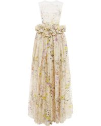 Houghton Floral Organza Luelle Gown - Natural