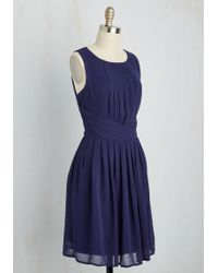 Moon Collection - One Moment, Pleats Dress In Cobalt - Lyst