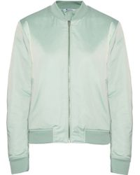 T By Alexander Wang Satin Bomber Jacket - Lyst