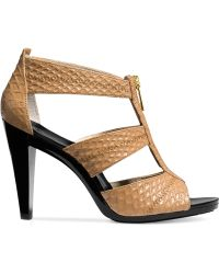 Michael Kors Michael Berkley T-Strap Sandals animal - Lyst
