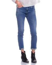 AG Adriano Goldschmied The Stilt Roll Up Jeans blue - Lyst