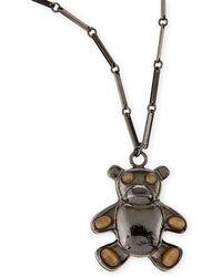 Tuleste - Bear Pendant Necklace - Lyst