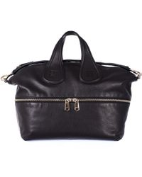 "Givenchy Black Medium ""Nightingale"" Bag With Zip - Lyst"