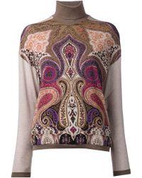 Etro Paisley Print Sweater - Lyst