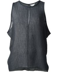 Helmut Lang Side Drop Sheer Top - Lyst
