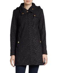 Ellen Tracy - Leopard-Print Hooded A-Line Jacket - Lyst