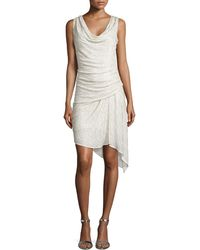 Haute Hippie Sleeveless Sequin-Stripe Cocktail Dress - Lyst