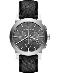 Burberry Men'S Swiss Chronograph Beat Check Fabric Strap 42Mm Bu9362 - Lyst