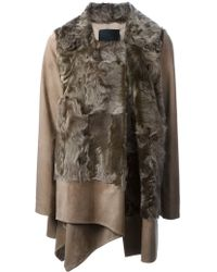 Liska Galliana Lamb Fur Panelled Coat - Lyst