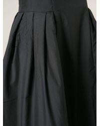 Comme des Garçons Pleated Flared Midi Dress - Lyst