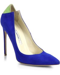 Brian Atwood Mercury Suede Pumps - Lyst