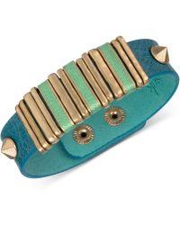 The Sak Blue Leather Slider Accent And Stud Snap Bracelet - Lyst