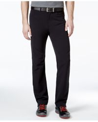 Calvin Klein | Stretch Twill Black Wash Pants | Lyst