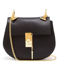 Chloé Grained Leather Drew Bag - Lyst