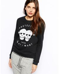 Zoe Karssen Sweatshirt with Skull Print - Lyst